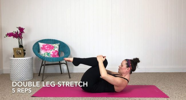 Double leg stretch graphic