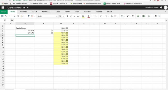 How to use spreadsheets to manage client accounts and payroll. graphic