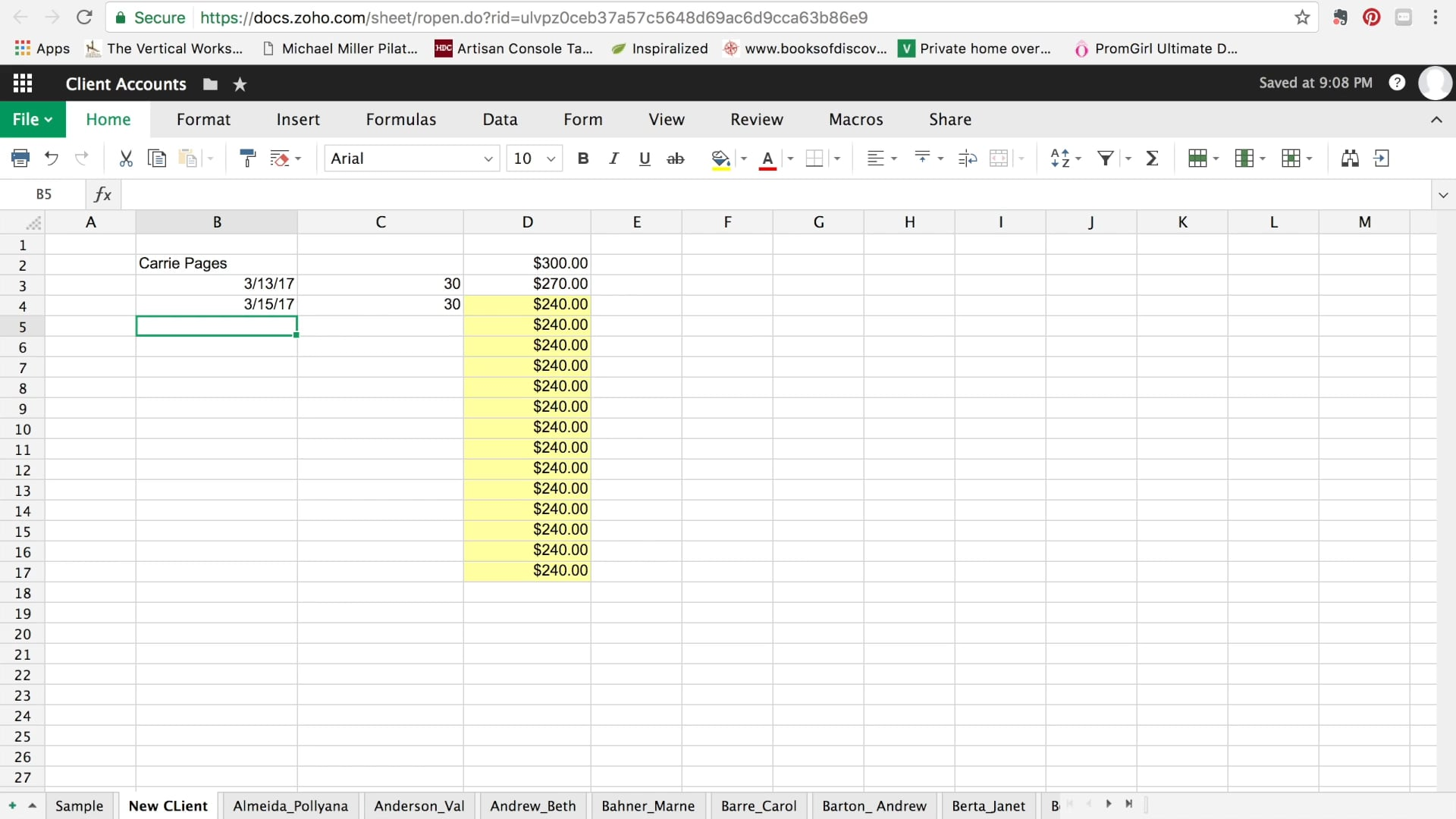 How to use spreadsheets to manage your studio. (5 mins)