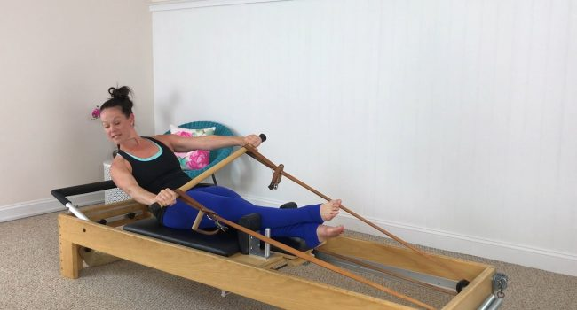 Reformer (16 mins): Challenge your precision and connect with your core. graphic