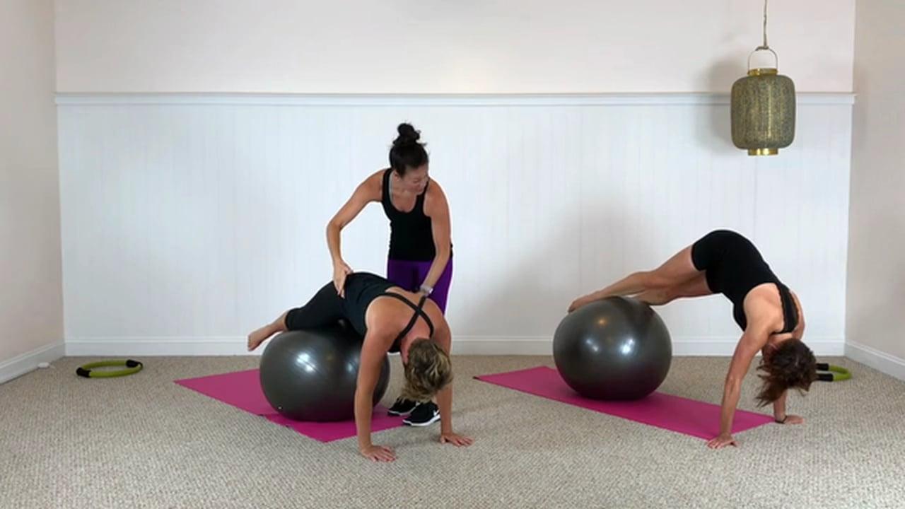Mat and Ball workout (30 mins)