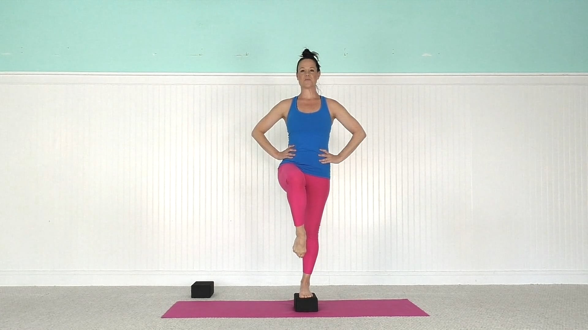 Mat Class with Yoga Blocks
