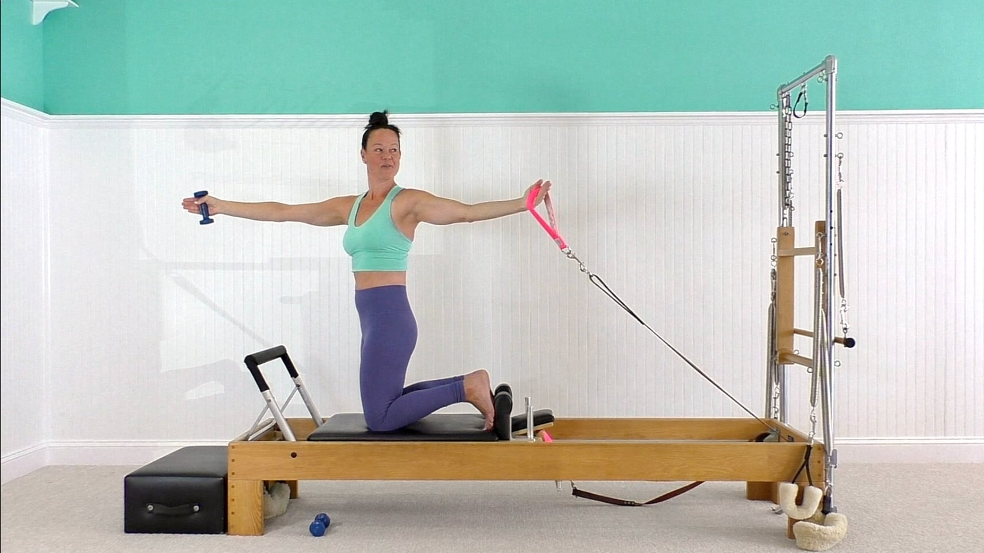 Reformer Workout with 2 lb Weights
